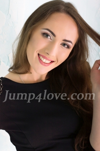 Ukrainian girl Anna,24 years old with brown eyes and light brown hair. Anna