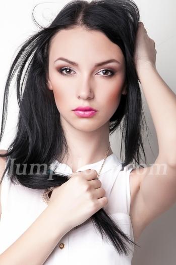 Ukrainian girl Karina,26 years old with brown eyes and black hair. Karina