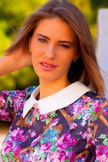 Ukrainian girl Anastasia,26 years old with grey eyes and light brown hair. Anastasia